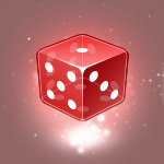Red Gamble Dice Icon